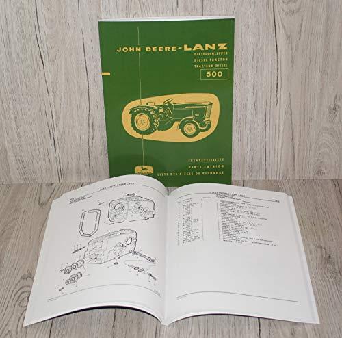 Ersatzteilliste Ersatzteilkatalog Traktor 500