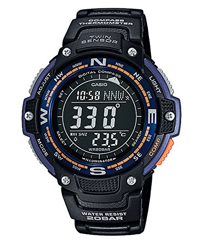 Casio SGW100-2B Twin Sensor Digital compass/Thermometer Watch