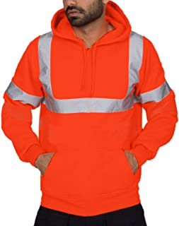 Hooded Sweatshirt Tops Blouse,G-Real Mens Road Work High Visibility Pullover Long Sleeve