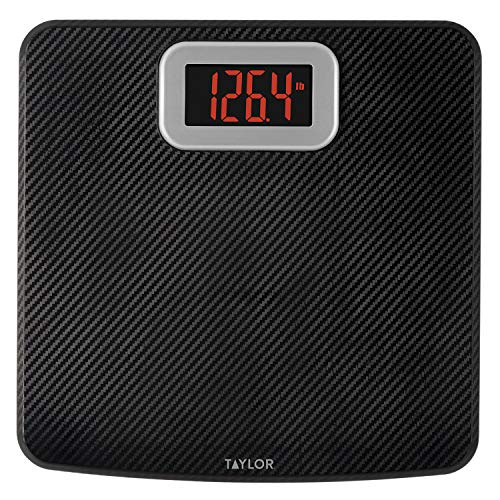 Taylor Precision Products Taylor Digital Bathroom Scale with Carbon Fiber