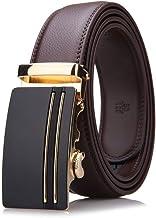 Cinturón de hombre Cinturones de cuero para hombre con trinquete automático de 1.4