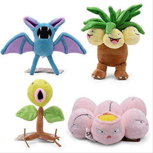 LHAHGLY 4 Teile/Satz Anime Pokemon Glockenprout Gefüllte Plüsch Cartoon Puppen Baby Spielzeug für Kinder Pokemon Kuscheltier