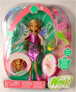 Winx Club Fairy Doll Deluxe Figure Flora with Pixie Friend Chatta
