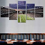 Cuadro Pósters del Estadio Gillette XXL Impresiones En Lienzo 5 Piezas Cuadro Moderno En Lienzo Decoración para El Arte De La Pared del Hogar HD Impreso Mural Enmarcado