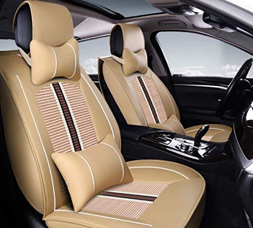 9pcs Full Set Ice Seta anteriore e Rear Seat copertura antiscivolo Deluxe Cuscini Automotive sede universale Fit 5 Sedili Vehicles - Brown,Nero