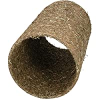 Perfect way to challenge and & prevent boredom Hay coated parchment Tunnel Created with fun and foraging in mind Perfect for playing with, hiding in and chewing on Dimensions of Each Tunnel: 15x15x25cm