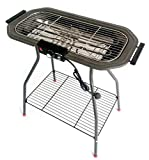 Vaevan Electric Grill Portable Stainless Steel Multi-Function Smoker Barbecue Electric Grill Grill Foldable