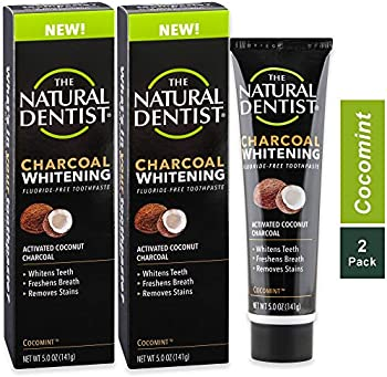 2-Pack The Natural Dentist Charcoal Whitening Toothpaste, 5 Ounce Tube