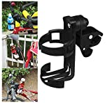 Baby Stroller/Bike Cup Holder - Universal Fit Drink Bottle Coffee Stabilizer - Anti-Slip Clamp and Adjustable 360 Degree Rotation Easy Mount Organizer Bag for Stroller, Baby Buggy and Bike (Black)