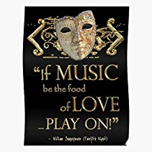 VQNTHINH Love Quote Night Music Poster Twelfth Shakespeare I S Poster for Home Decor Wall Art Print Poster