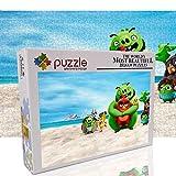 Puzzle per adulti 1000 pezzi Set puzzle a tema uccello arrabbiato Giocattolo per l'intrattenimento familiare Regali di Natale (70 x 50 cm)