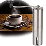 YFXOHAR Manual Coffee Grinder Adjustable Ceramic Burr Mill Portable Hand Stainless Steel Coffee