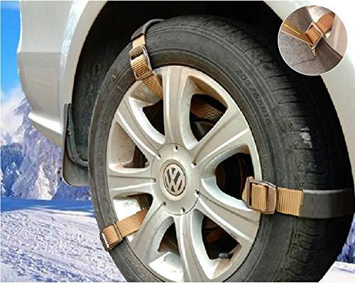 Easy Emergency Car Snow Tire Chain - Fineget Heavy Duty Universal Fit...