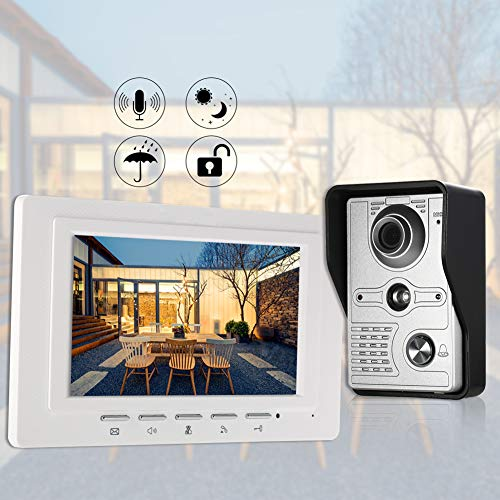 7 inch bedrade video deurbel binnenmonitor regenbescherming camera visuele intercom tweeweg-audio-inrichting afstandsontgrendeling video deurintercom voor woningen