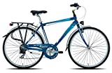 Legnano Ciclo 440 Amalfi, City Bike Uomo, Blu/Azzurro, 48