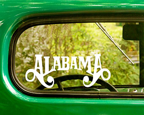 2 Alabama Band Decal Stickers White Die Cut for Window Car Jeep 4x4 Truck Laptop Bumper Rv