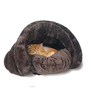 Casa para mascotas con diseño triangular,saco de dormir,lavable,cómoda para acurrucarse,para gatitos,perros y cachorros,un cálido refugio,acogedor y cómodo para tu mascota,de GossipBoy 16