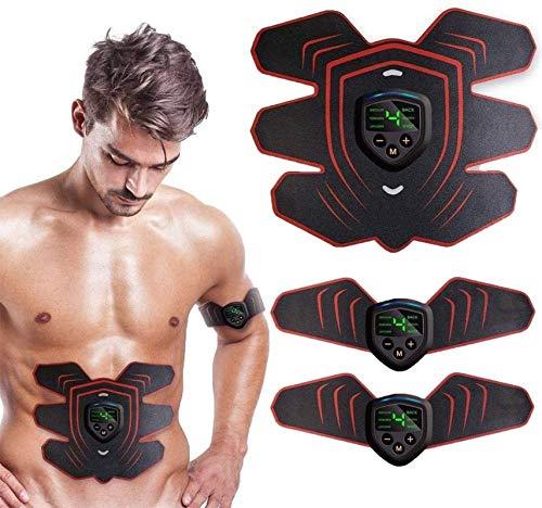 Z&HA Abs Stimulator Trainingsgeräte Für Heim Workouts, Muskelstimulator, USB Aufladbare Toning Gürtel ABS Fit Gewicht Muskel-Toner-Workout-Maschine Für Männer & Frauen
