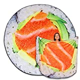 TILTECH Sushi Blanket - Giant 6 Foot Food Throw Blanket - Soft & Warm Flannel, Fun & Cute, Funny Gag Gift & Decoration for Bed, Crib, Couch & Home, Realistic & Large Size for Adults, Kids, Babies