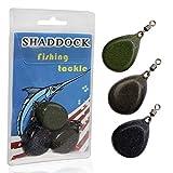 Shaddock 3Stk Flat Pear Bleie Gewichte Karpfenbleie Wirbelbleie 2oz/57g Angelblei Gewichte...