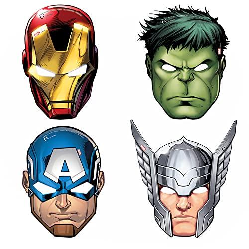 Marvel Lot de 6 masques mighty avengers