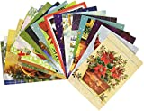 Traditional Christmas Holiday Greeting Cards, Assorted Designs, 50 Count, 4.625' X 6.75'