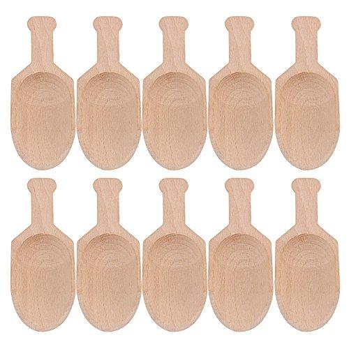 BQLZR 3pulgadas mini conos de madera de haya cuchara para Candy especias partes Home Utensilios de cocina 10unidades