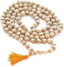 TULSI TULASI MALA ROSARY 108 JAPA BEAD PRAYER YOGA HINDU MEDITATION MALA JAPA ORANGE TASSEL (1)