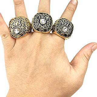 YC° Alabama 1973 1978 1979 Crimson Tide National Championship Ring, 3 PCS Ring Set Collection US Size 11