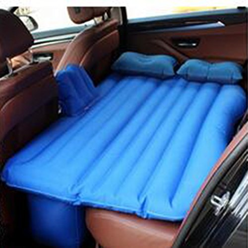 Inflatable Bed for SUV Car Heavy Duty Portable Premium Queen Size Double Air Mattress Traveling Travel Blue