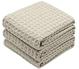 VeraSong Waffle Weave Kitchen Towels Thick Microfiber Dish Drying Towels Absorbent Tea Towels Hand...