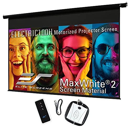 Elite Screens Spectrum, 100-inch Diag 16:9, Electric Motorized 4K/8K Ready Drop Down Projector Screen, ELECTRIC100H