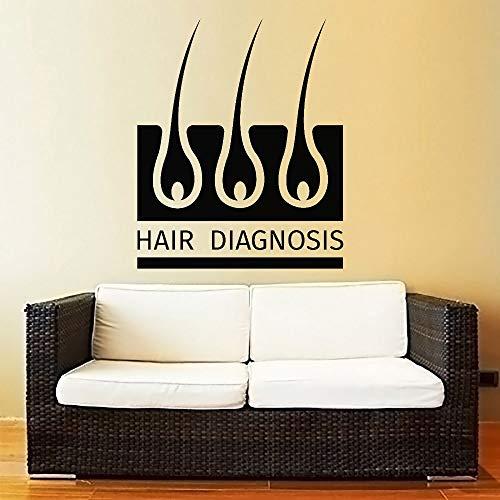 Preisvergleich Produktbild YuanMinglu Haar diagnose wandaufkleber Vinyl wandaufkleber gesunde lebensweise Haut krankheit Salon Nordic Dekoration Wohnzimmer 38, 4X50, 4 cm