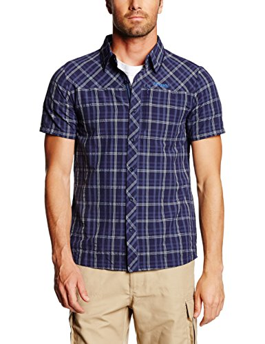 Bergans T-Shirt Outdoor Chemise langli SS 7404 Small Bleu - Navy Check