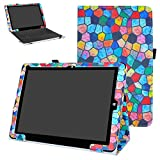 MAMA MOUTH Chuwi Hi12 Funda, Slim PU Cuero con Soporte Funda Caso Case para 12' Chuwi Hi12 Windows 10 & Android 5.1 Dual Sistemas Tablet PC,Stained Glass