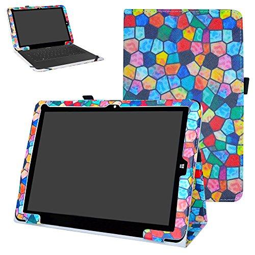 MAMA MOUTH Chuwi Hi12 Funda, Slim PU Cuero con Soporte Funda Caso Case para 12' Chuwi Hi12 Windows 10 & Android 5.1 Dual Sistemas Tablet PC,Stained Glass