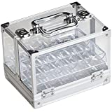 GSE Games & Sports Expert 600-Piece Acrylic Chip Case | 600 Count Chip Carrier with 6 Chip Trays (Chip Case + 6 Trays)