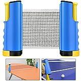 Weeygo Red de Tenis de Mesa, Repuesto Portátil Retráctil Table Tennis Net...