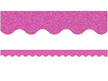 Pink Glitz Scalloped Border Trim