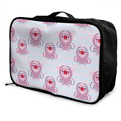 Qurbet Bolsas de Viaje, Funny Sloth Pattern Overnight Carry On Luggage Waterproof...