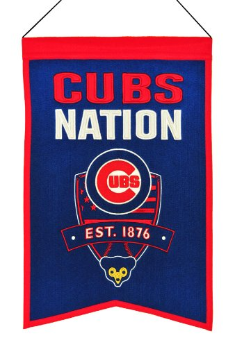 MLB Baseball Chicago Cubs Nation Wimpel Pennant Wool Blend Banner 54x35