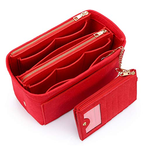 VANCORE バッグインバッグ 軽量 自立 Bag in Bag フェルト チャック付き 小さめ 大きめ バッグの中 整理 整...