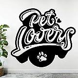 HGFDHG Pareja de Mascotas calcomanía de Pared Perro Gato An