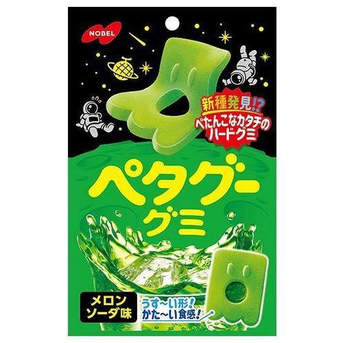 ノーベル製菓 ペタグーグミ メロンソーダ 50g×6袋入×(2ケース)