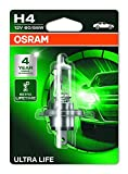 OSRAM ULTRA LIFE H4, lámpara para faros halógena, 64193ULT-01B, automóvil de 12 V, ampolla individual (1 unidad)