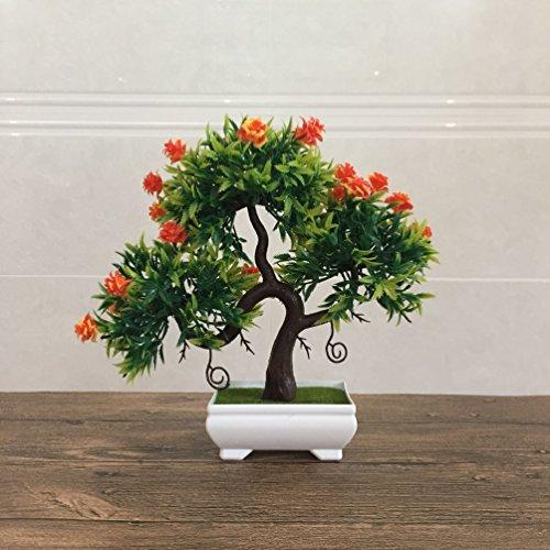 Price comparison product image Artificial Fake Flowers Plastic Green Plants Bonsai Tree Desktopdecor