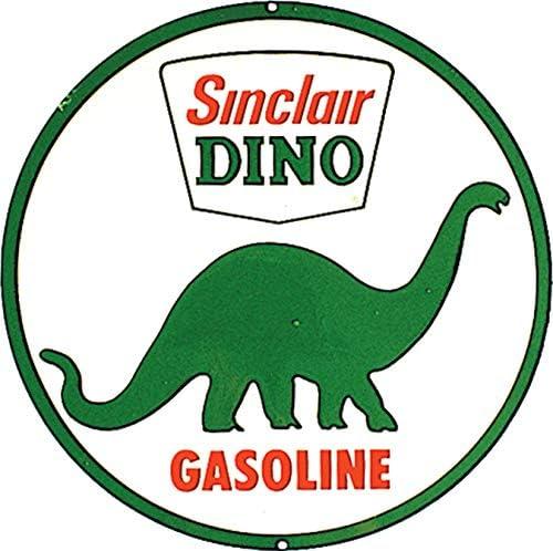 "Amazon.com: Desperate Enterprises Sinclair Dino Gasoline Tin Sign, 11.75""  Diameter : Home & Kitchen"