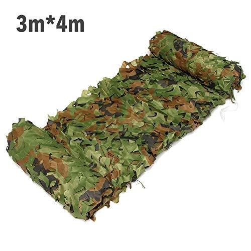 Rosewaryrose - Red de camuflaje de camuflaje para decoración de bosque, paisaje del bosque, fiesta al aire libre, acampada, Double Layer-3m W x4m L