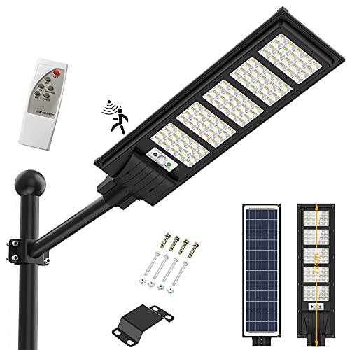 350W Solar Street Light Outdoor, 18000LM...