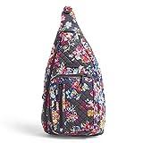 Vera Bradley Signature Cotton Sling Backpack, Pretty Posies